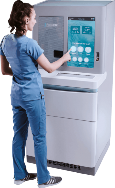 Nurse using Accuvax
