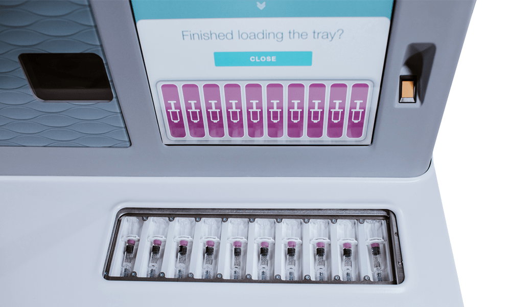 AccuVax Vaccine Management System storing vials