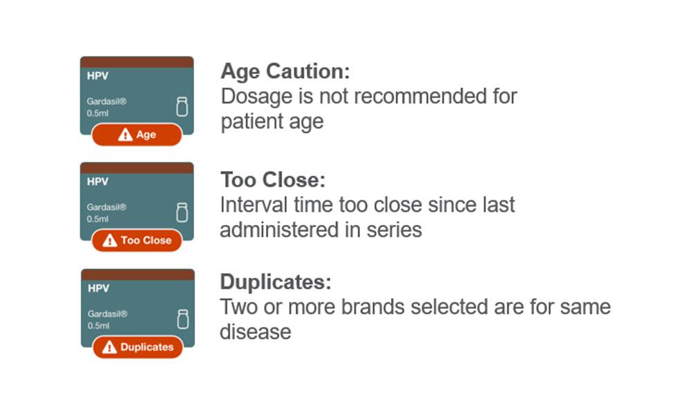 AccuVax Safety Check Screen